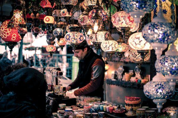 bazaar, booth, bracelets